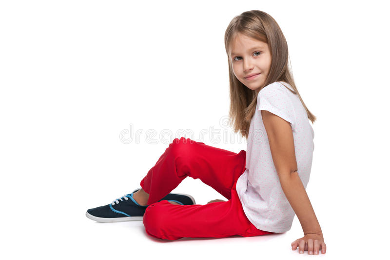 Adorable fashion little girl stock image