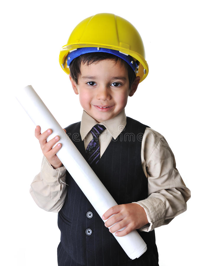 Adorable future architect stock images