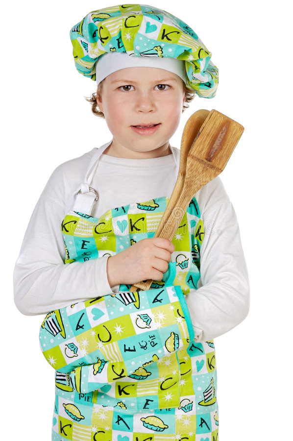 Download Adorable future cook stock photo. Image of cook, onion - 2080522