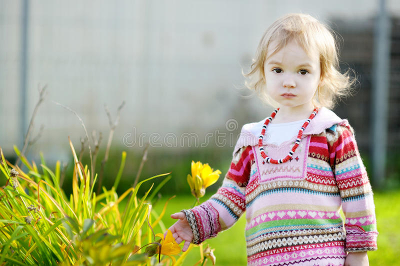 Download Adorable Girl Outdoors On Beautiful Autumn Day Stock Photo - Image: 20693052