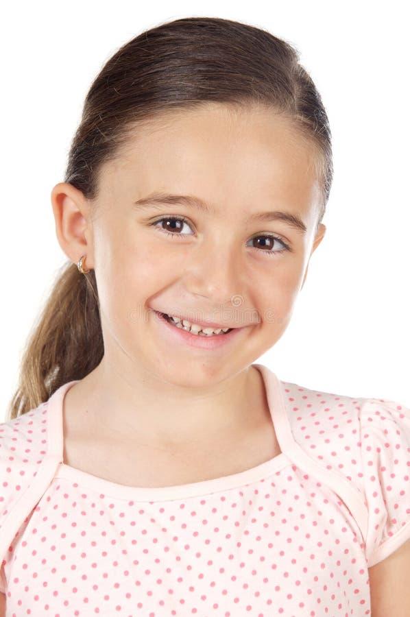 Adorable girl smiling stock image