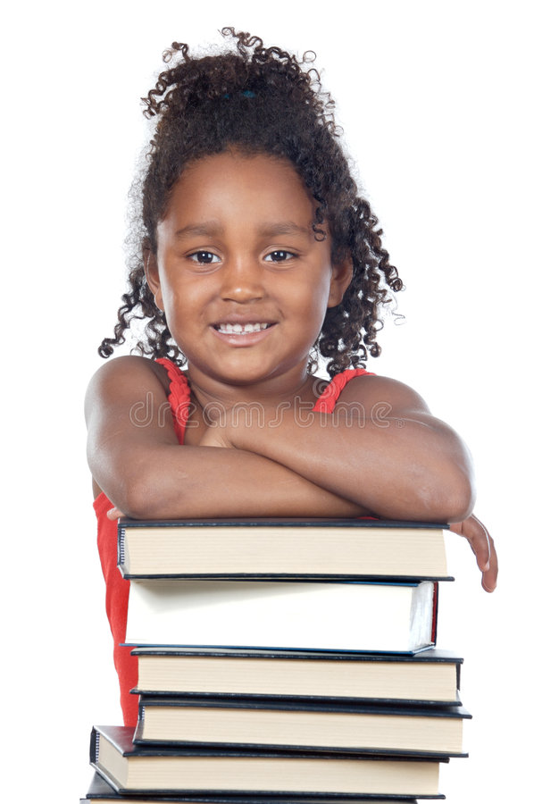Adorable girl student royalty free stock images