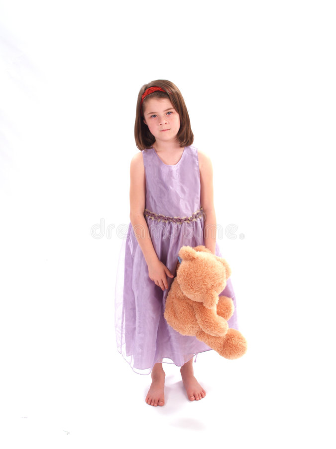 Free Adorable Girl With Bear Stock Photography - 2168742