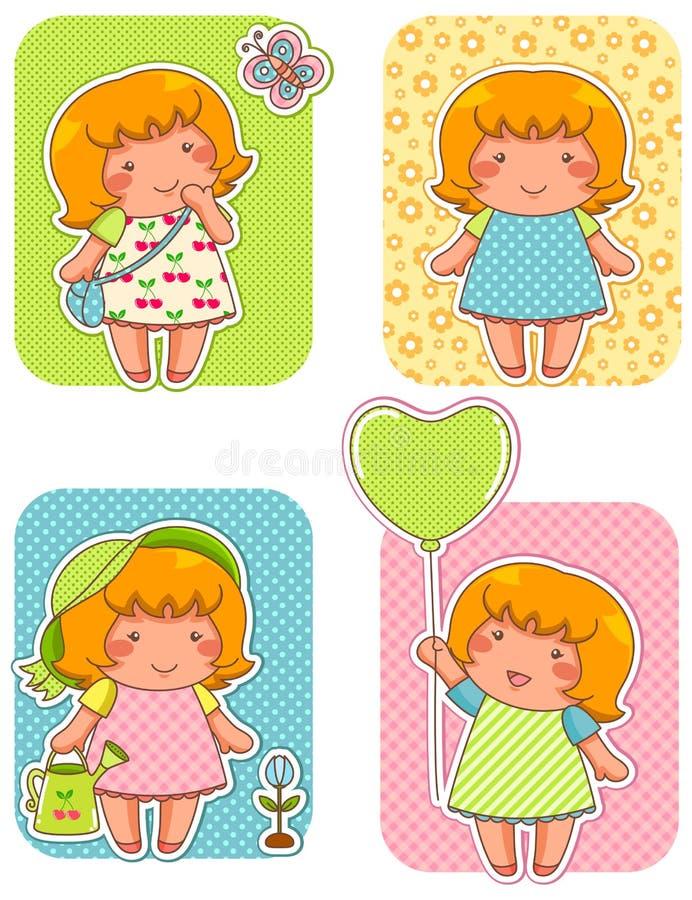 Download Adorable girls stock vector. Illustration of children - 34719038