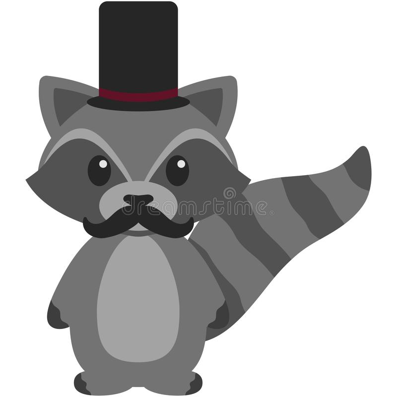 Hipster Raccoon Stock Vector. Illustration Of Culture