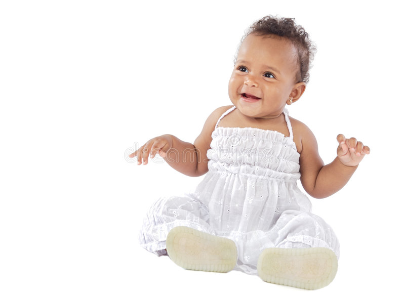 Adorable happy baby stock photography