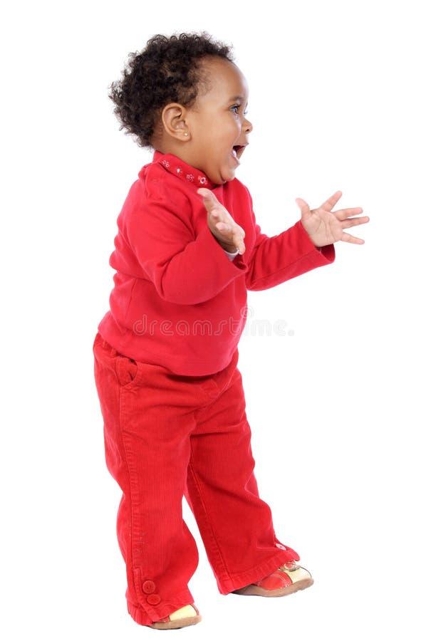 Adorable happy baby stock image