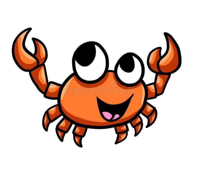 Adorable Happy Orange Crab stock illustration