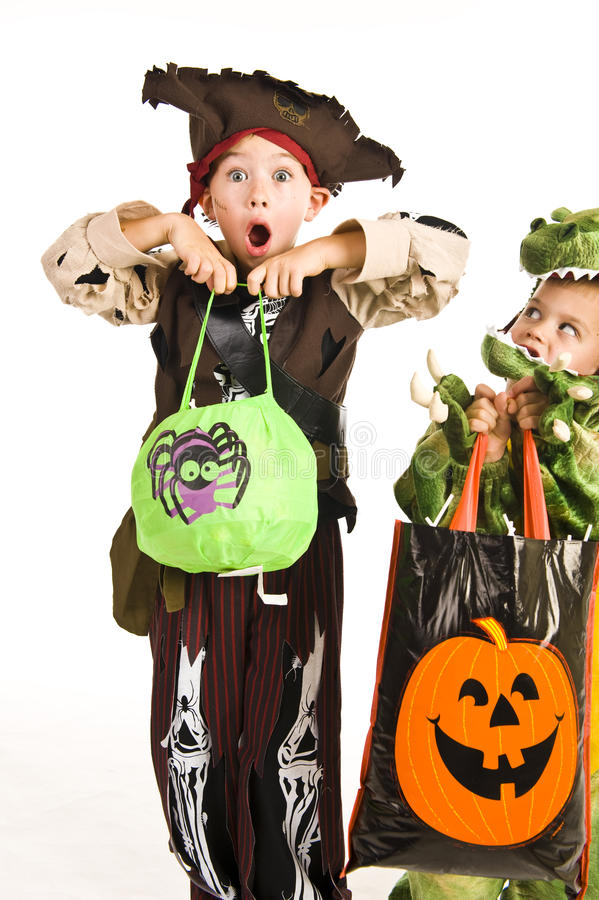 Download Adorable Kids Playing Trick Or Treat Stock Photo - Image: 11302800