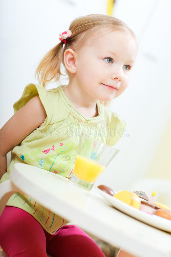 Download Adorable little girl stock photo. Image of casual, home - 18645360