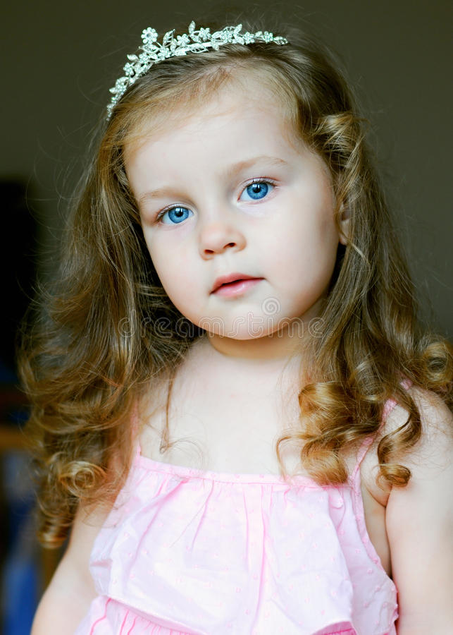 Adorable Little Girl Dressed As A Princess Stock Image