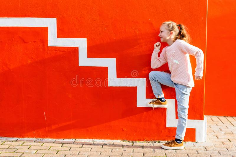 Adorable little girl outdoors stock image
