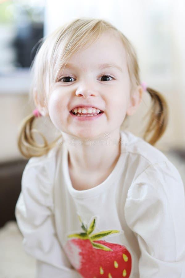Adorable little girl portrait stock image