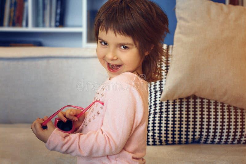 Adorable little girl smiling. royalty free stock photos
