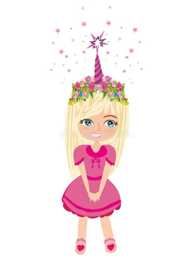 Adorable little girl royalty free illustration