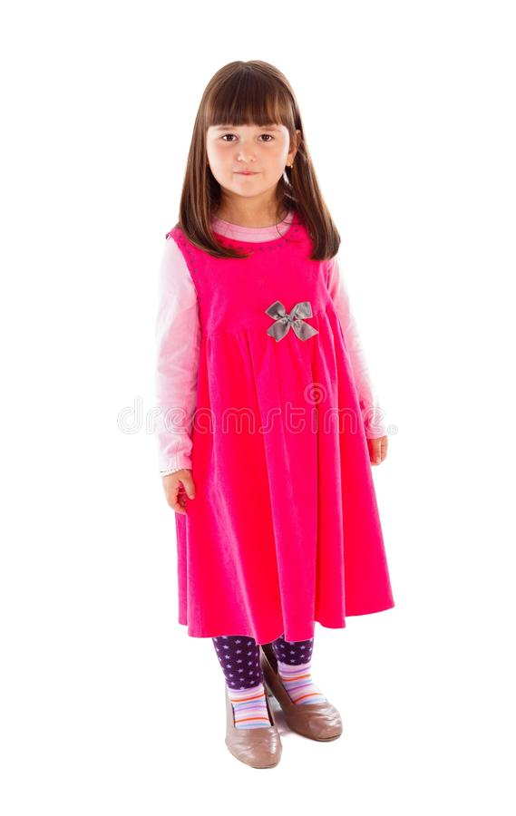 Adorable Little Model. Adorable little girl posing in studio, acting like a model stock images