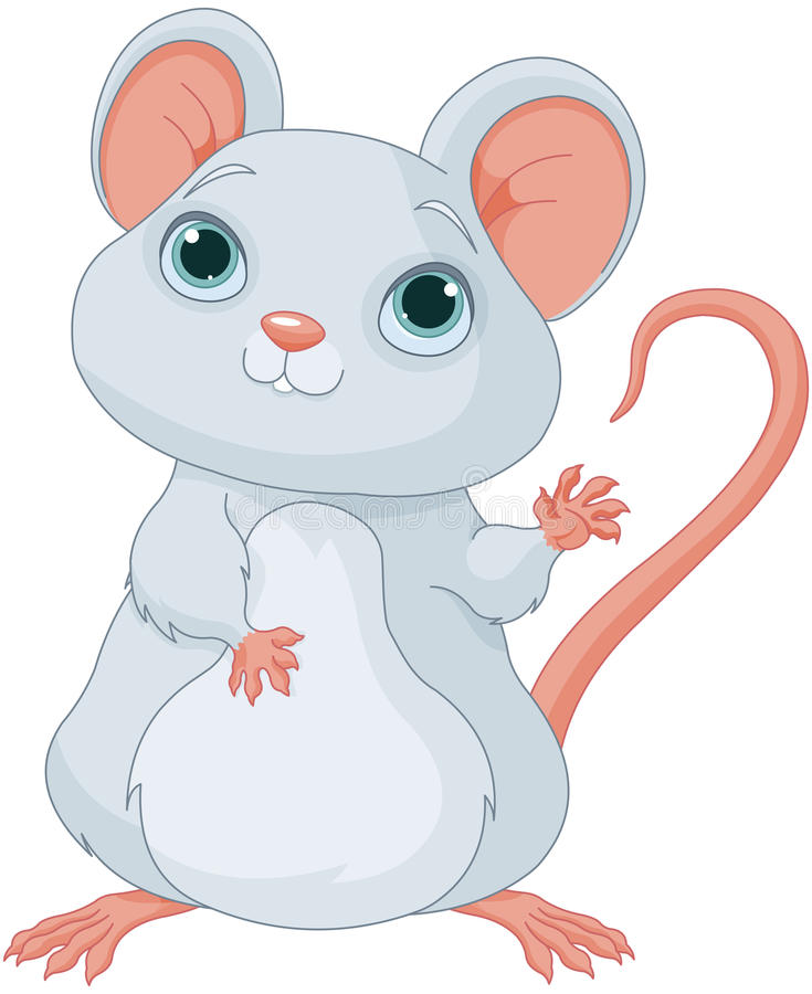 Adorable Mice. Illustration of a cute mice vector illustration