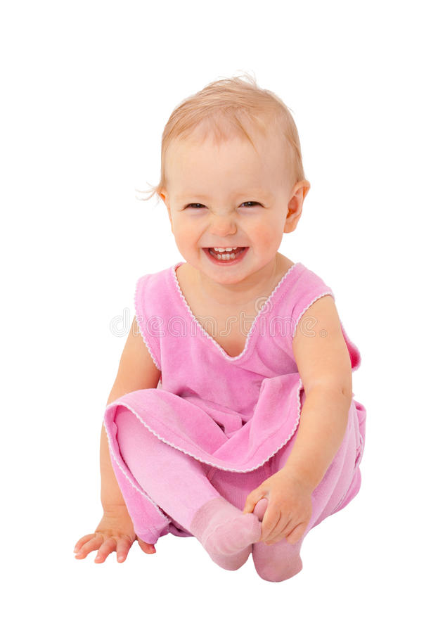 Adorable one-year old baby royalty free stock photos