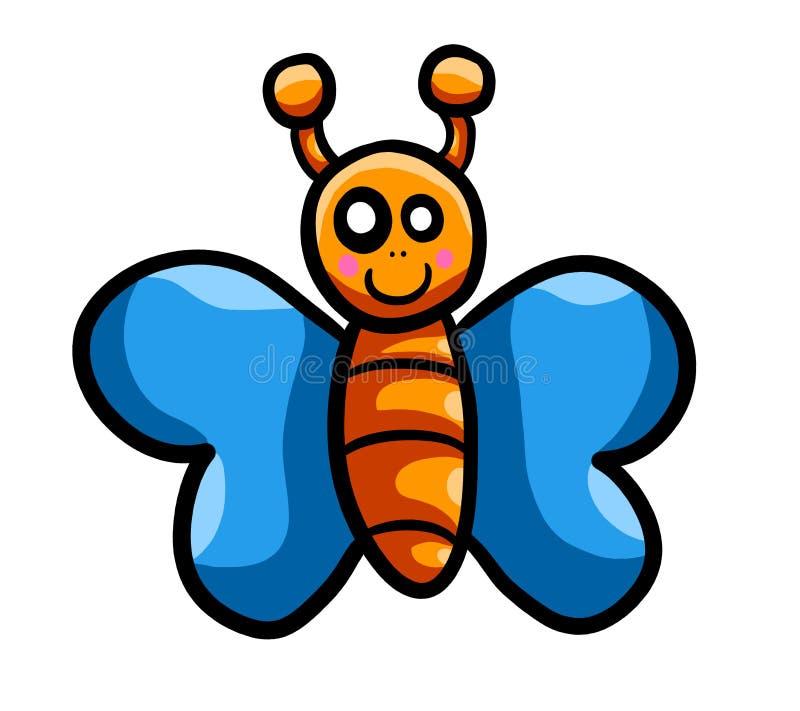Adorable Orange Butterfly stock illustration