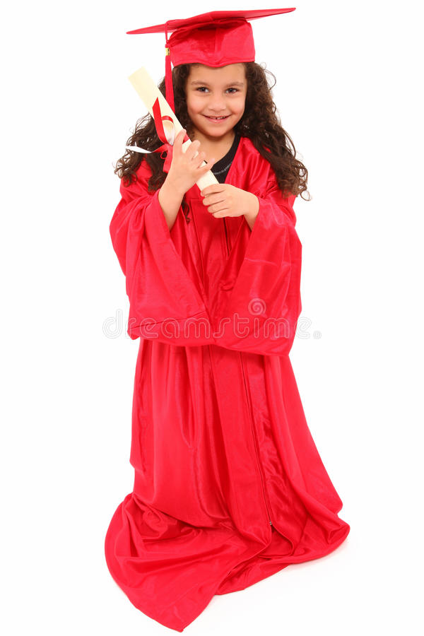 Adorable Preschool Graduate stock photography