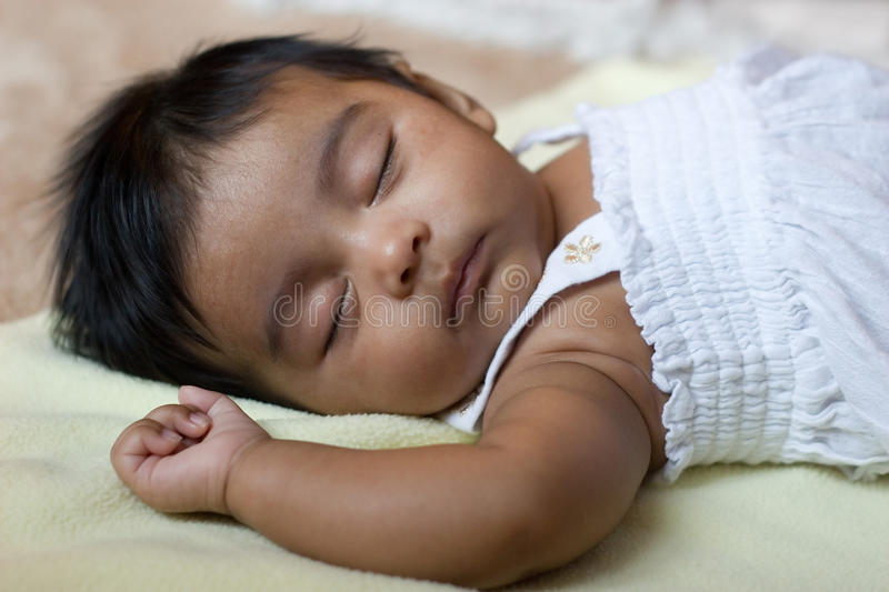 Adorable Sleeping Indian Baby stock photography