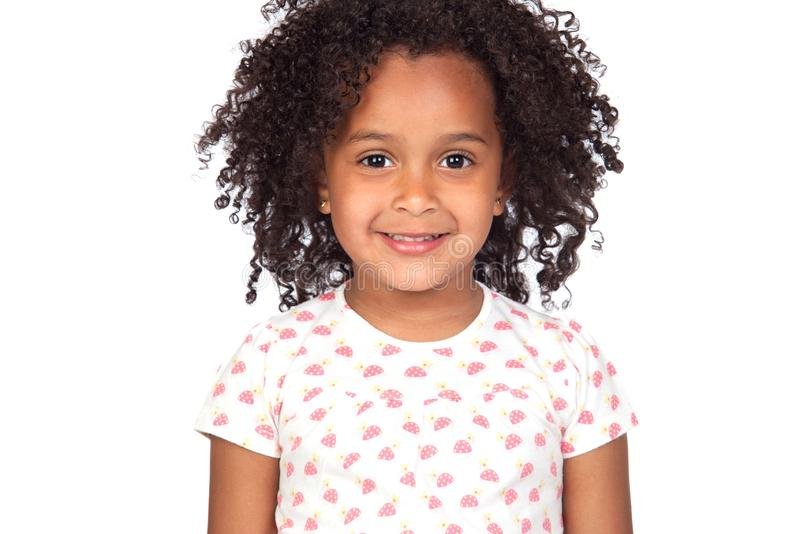 Adorable small girl with afro hairstyle royalty free stock image