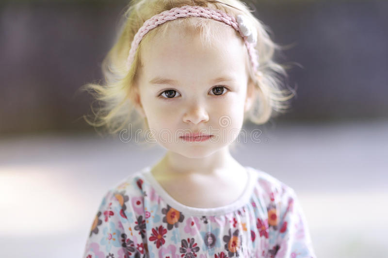 Adorable todder girl portrait stock image
