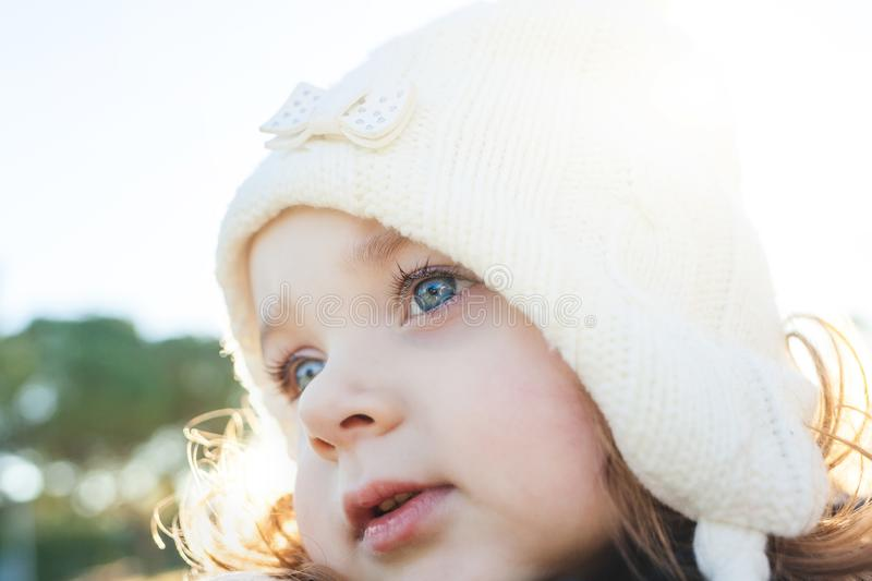 Adorable toddler girl of two years royalty free stock photos