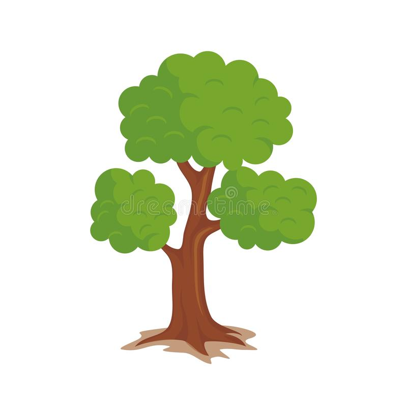 Adorable Tree with Cartoon design vector illustration