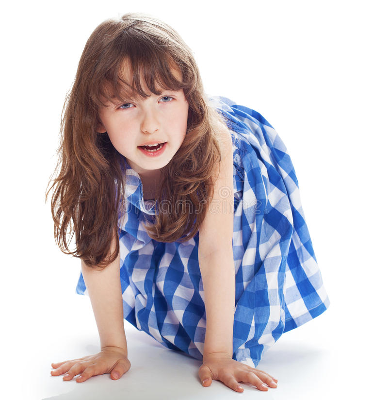 Adorable 6 year old girl royalty free stock photo
