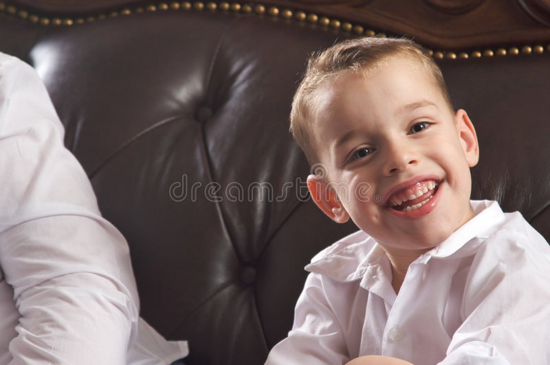 Download Adorable Young Boy Smiles stock image. Image of nice, look - 7659833