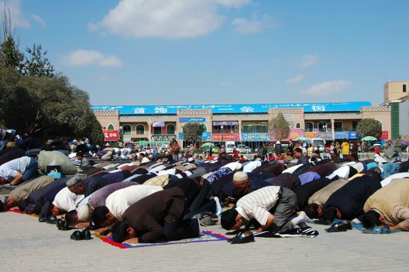 Adoradores muçulmanos fotografia de stock