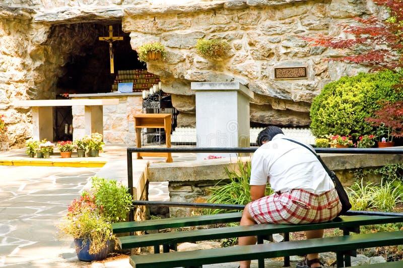 Adorateur De Grotte Photo libre de droits