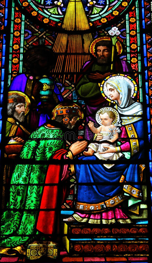 Adoration of the Magi royalty free stock image