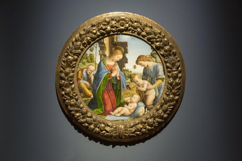 Adorazione del bambino dal Fra Bartolommeo fotografia stock