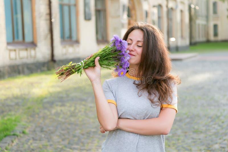 Adore fresh flowers. Floral shop. Springtime bloom. Natural beauty concept. Gentle flower for delicate woman. Pure stock photos