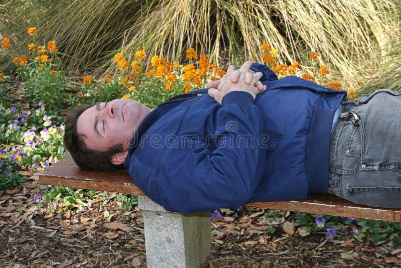 Download Adormecido no jardim foto de stock. Imagem de homens, dormir - 531312