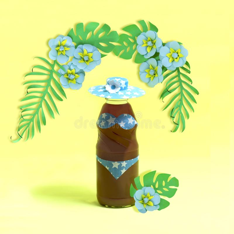 Adornamiento de las bebidas del verano para el partido tropical imágenes de archivo libres de regalías