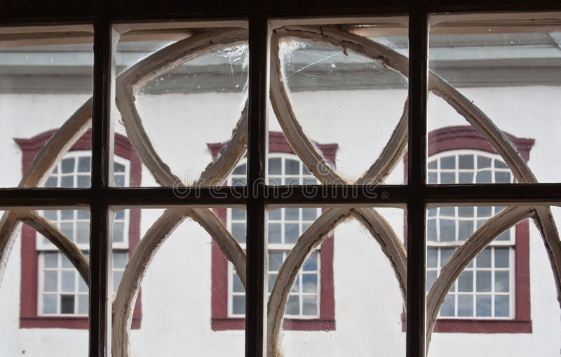 Adorned Window Colonial House Tiradentes Brazil royalty free stock photo