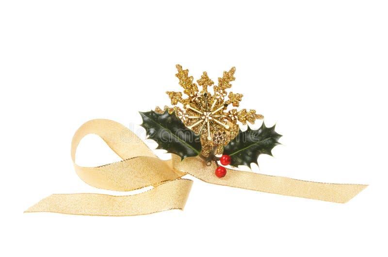 Adorno de la cinta de la Navidad imagen de archivo