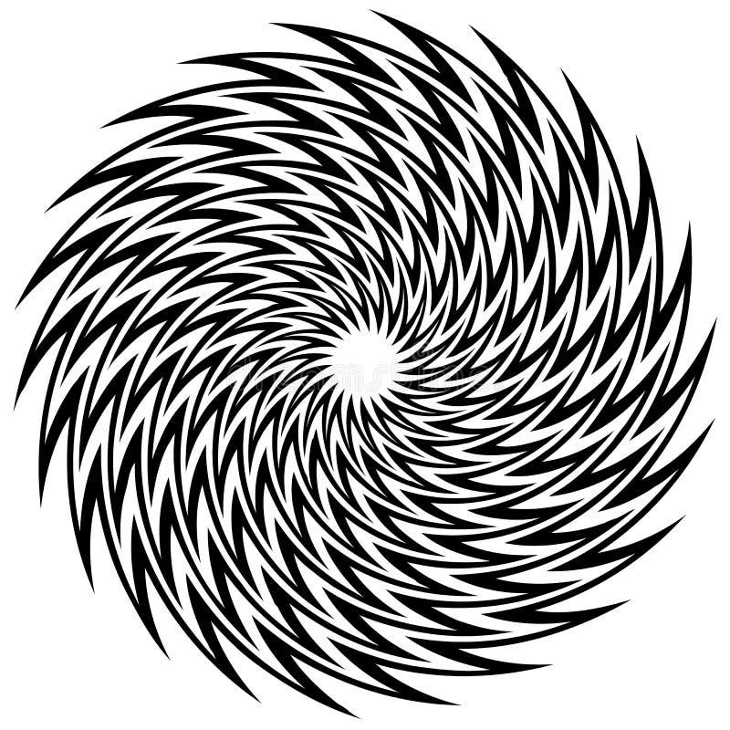 Adorno geométrico circular, mandala abstracta, forma geométrica ilustración del vector