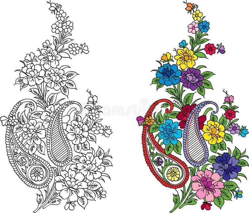 Adorno indio de la materia textil stock de ilustración