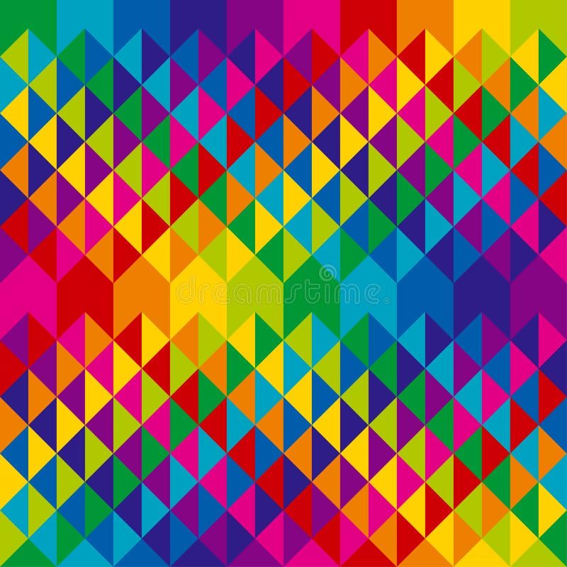 Adorno repetible de los triángulos coloridos abstractos ilustración del vector
