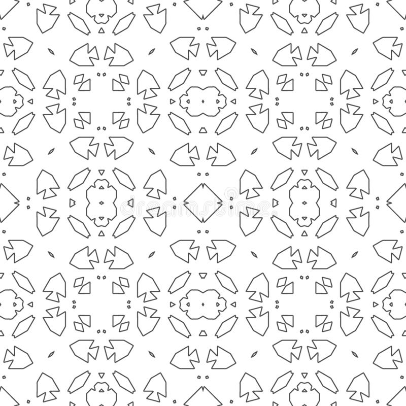 Adorno retro de la teja marroquí libre illustration