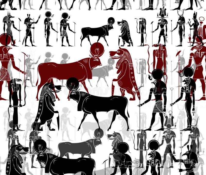 Adornos abstractos de Egipto antiguo foto de archivo