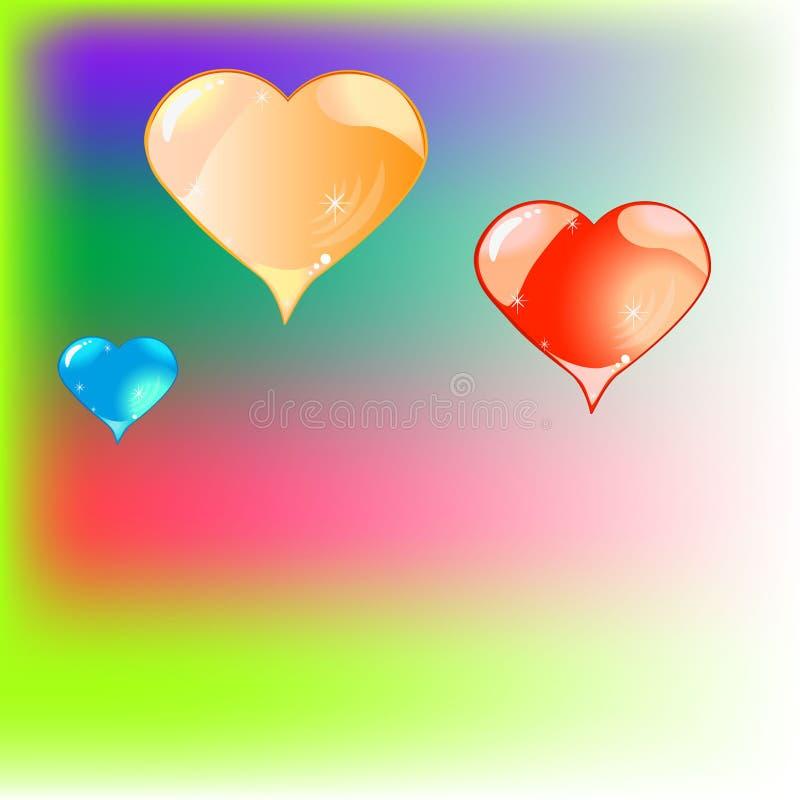 Adornos de los corazones imagenes de archivo