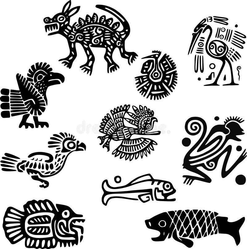 Adornos mexicanos ilustración del vector