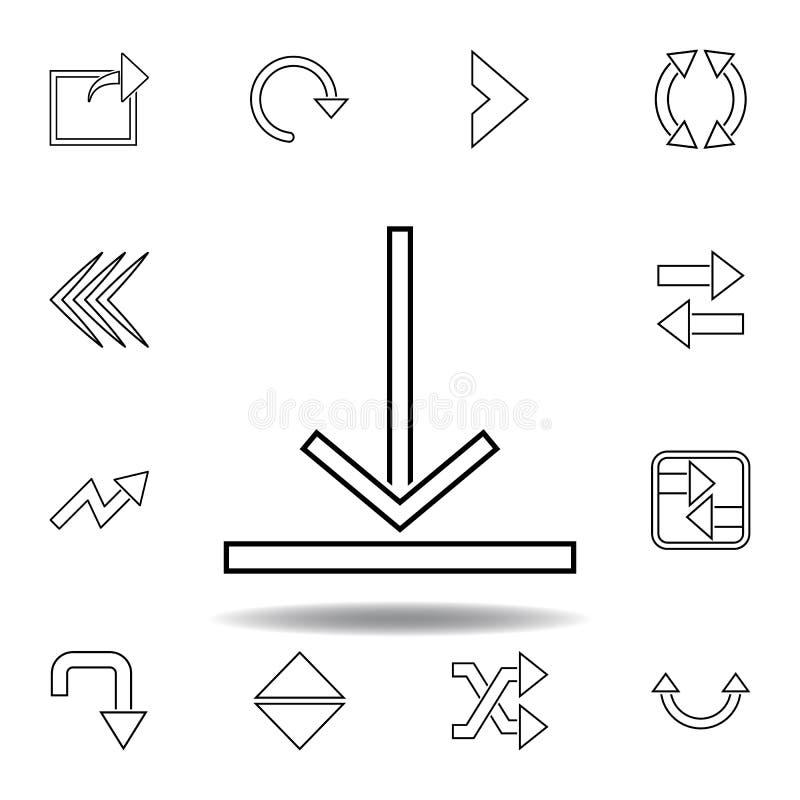 ?adownicza szyldowa ikona Cienkie kreskowe ikony ustawiać dla strona internetowa projekta i rozwoju, app rozwój ikony premia royalty ilustracja