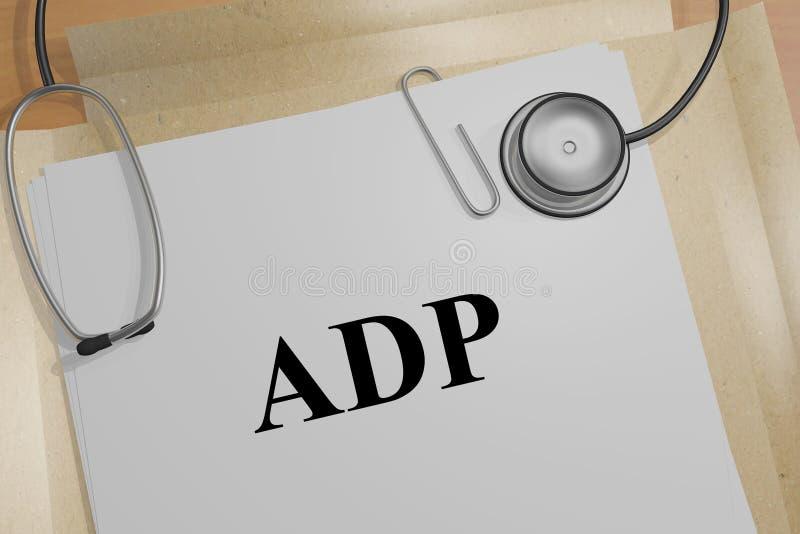 ADP - medicinskt begrepp stock illustrationer