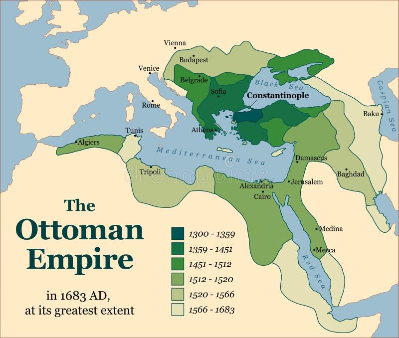 Adquisiciones del imperio otomano ilustración del vector